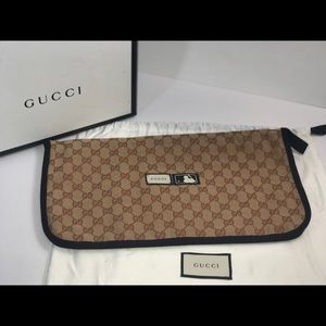 Authentic Gucci MLB clutch slipper storage case